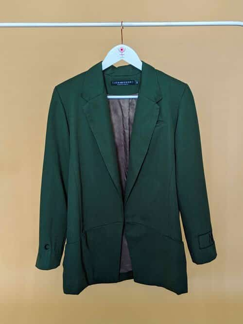 Jen MM DSGN Embroidery Green Suit Jacket