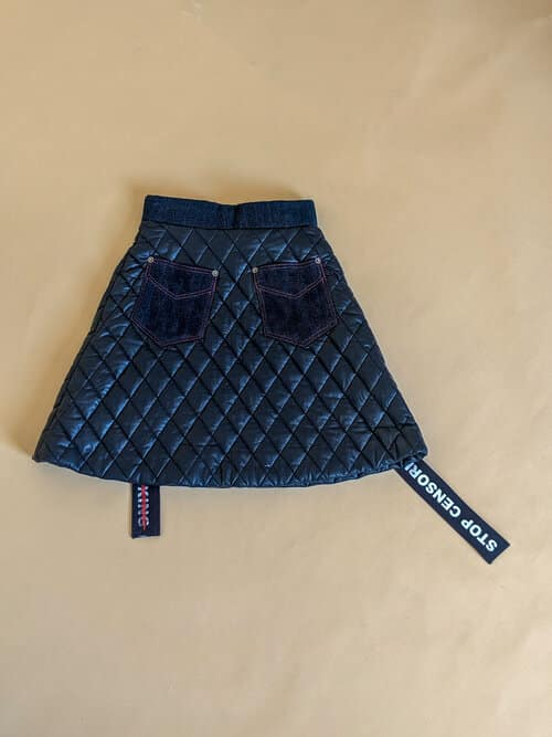 Radwa Radwan Quilted Skirt Stop Censoring our Art