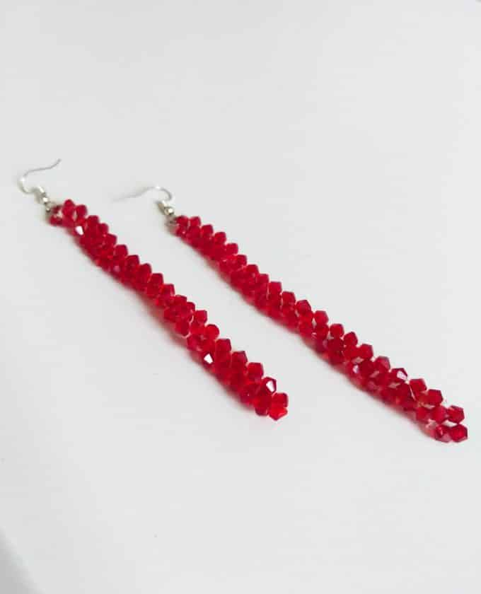 Red Crystal Earrings Shakila Thebe