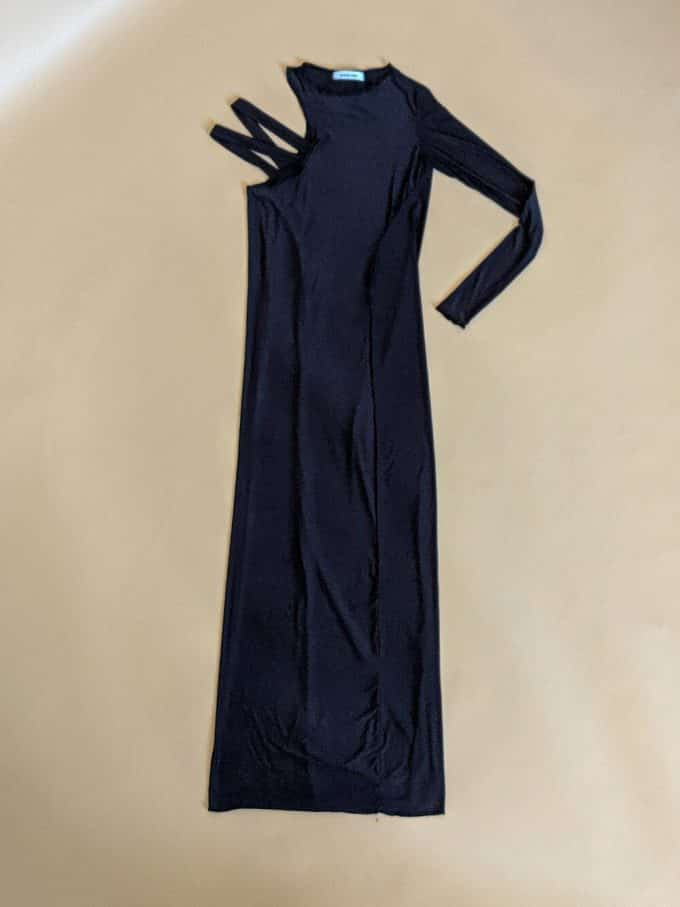 Asymmetric Long Black Dress Shakila Thebe