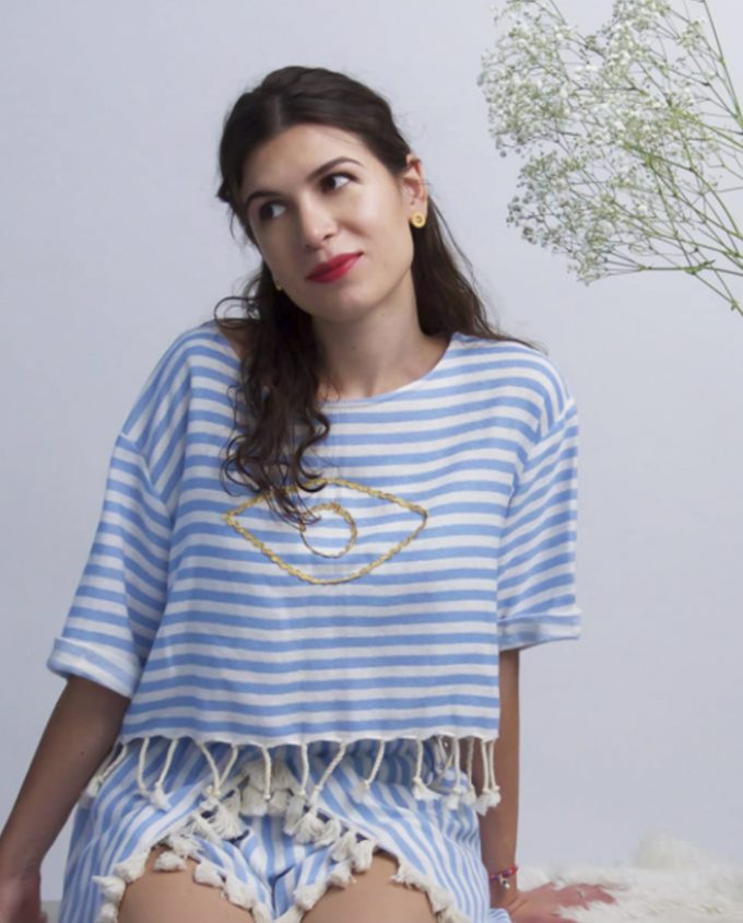 Sailor Crop Top Harem London