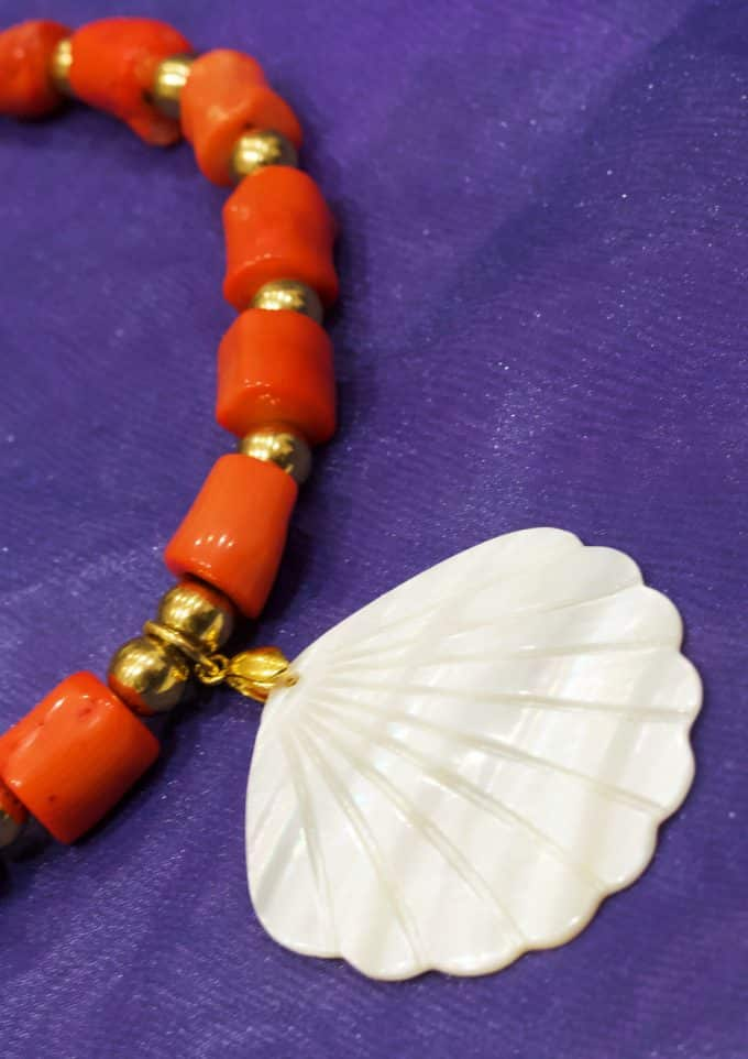 Coral Fan Necklace Anoushka Van Rijn