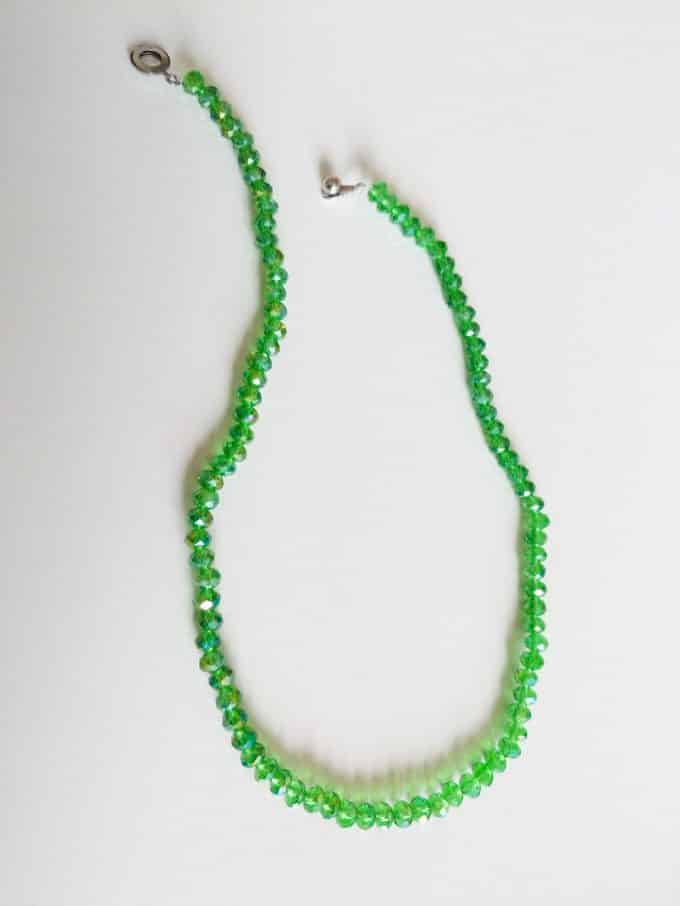Green Crystal Necklace Shakila Thebe