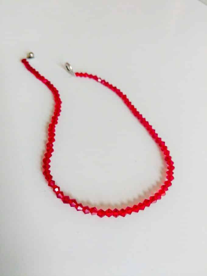 Red Crystal Necklace Shakila Thebe