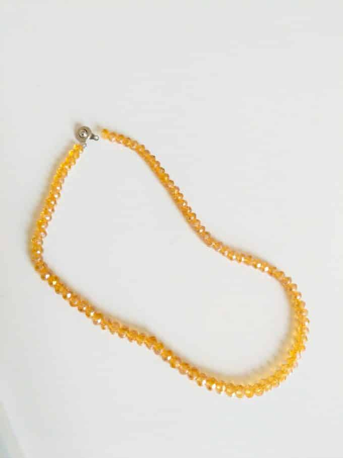 Yellow Crystal Necklace Shakila Thebe