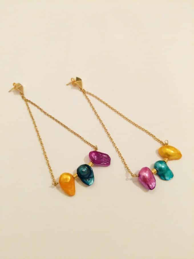 Three Colours Pearl Earrings Daixa Somed