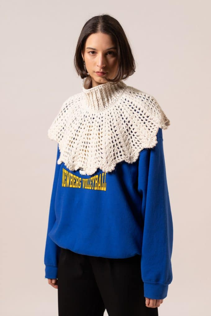 White Crochet Capes Nathalie Coste