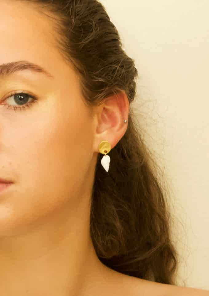 Shell Gold Earrings Daixa Somed