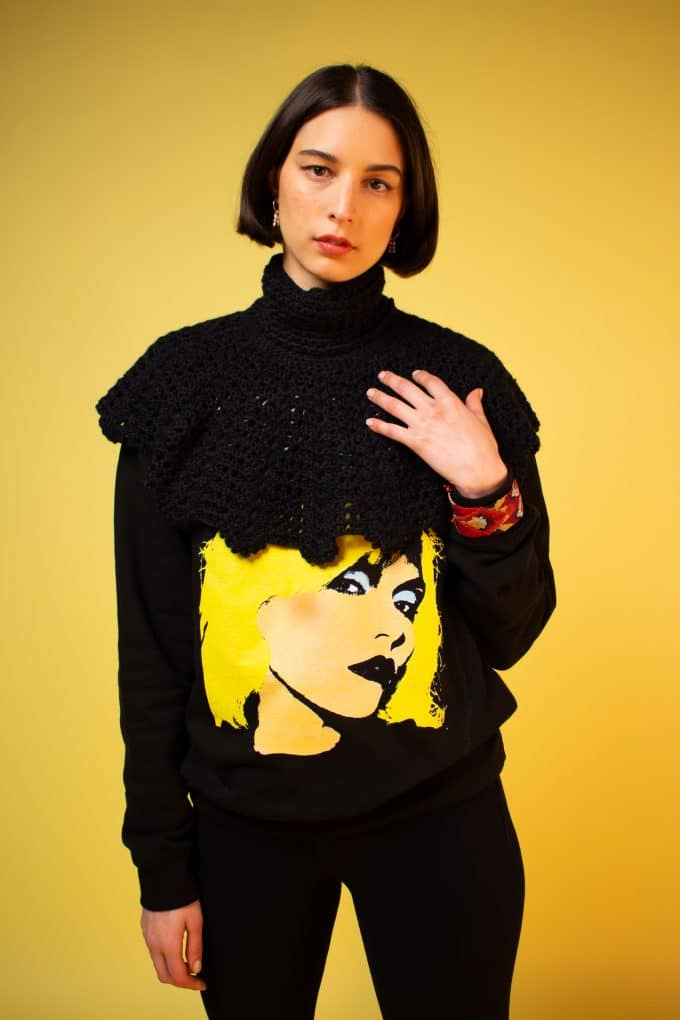 Black Blondie Jumper Nathalie Coste