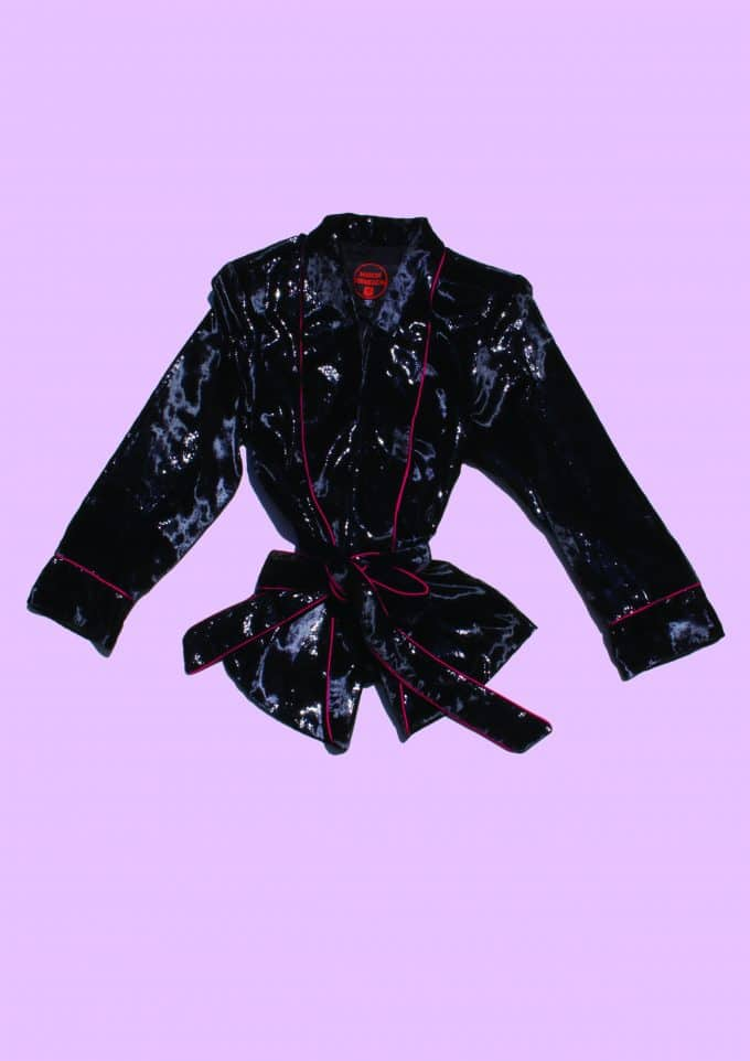 Velvet Evening Pyjama Coat Maison Vermillion