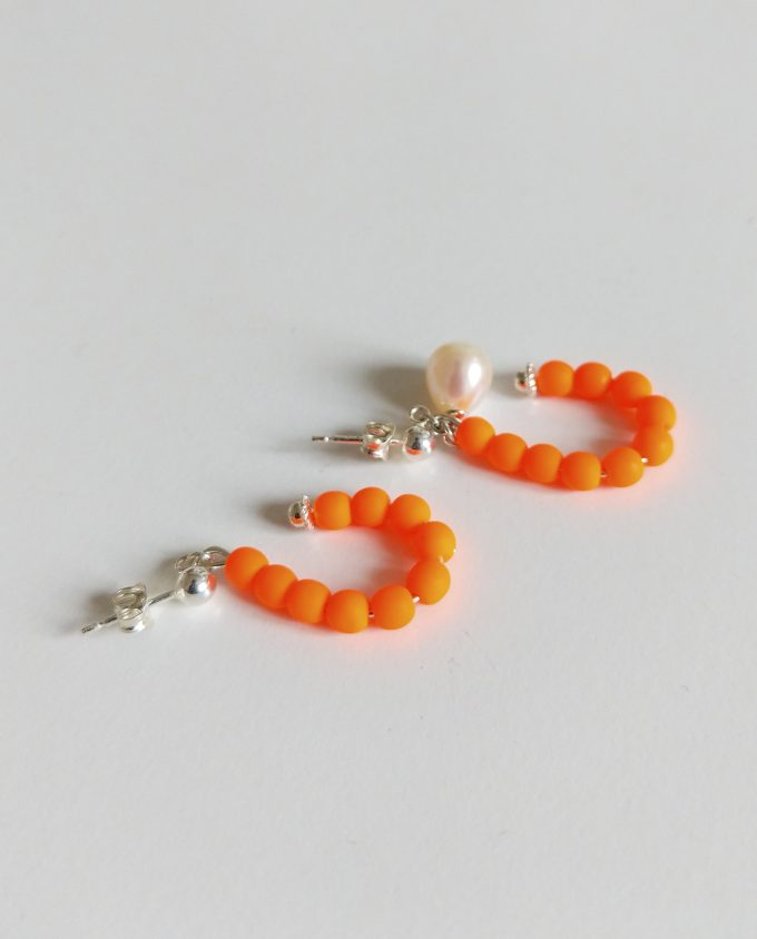 Orange Neon Earrings Daixa Somed