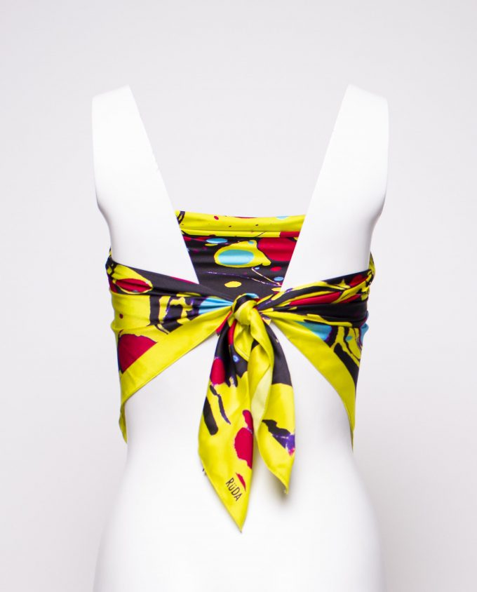 Yellow Pop Silk Scarf Ruda
