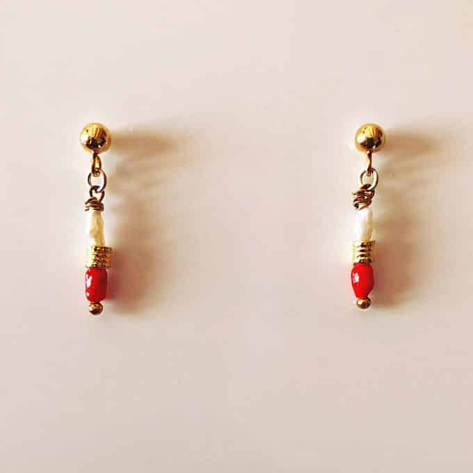 Daixa Somed Hand Painted Shell Earrings