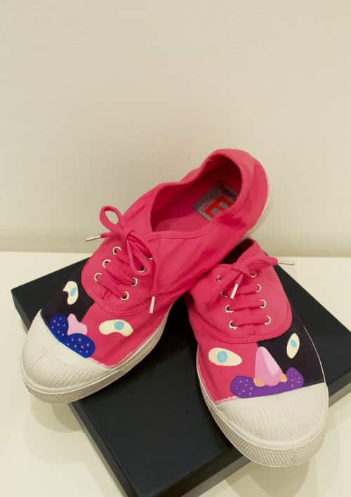 Customised Pink Cat Bensimon Tennis