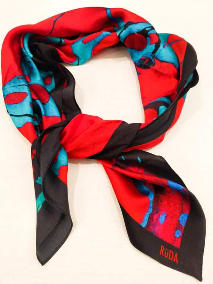 Ruda Red and Blue Scarf