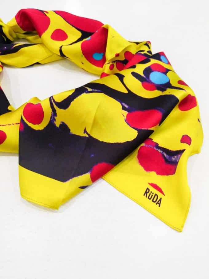 Ruda Yellow and Pink Scarf