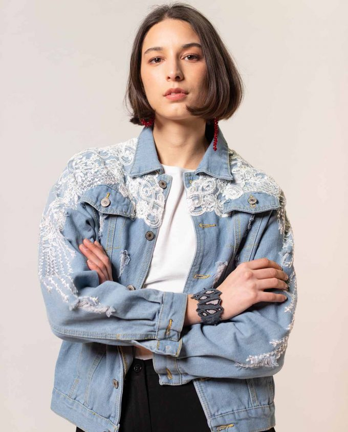 Simonetta Sabo Jeans and Sequins Jacket