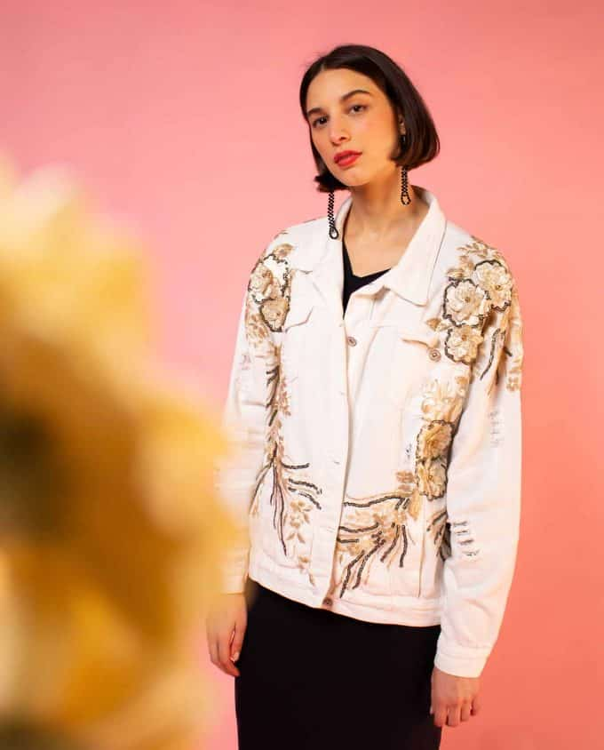White and Lace Jacket Simonetta Sabo