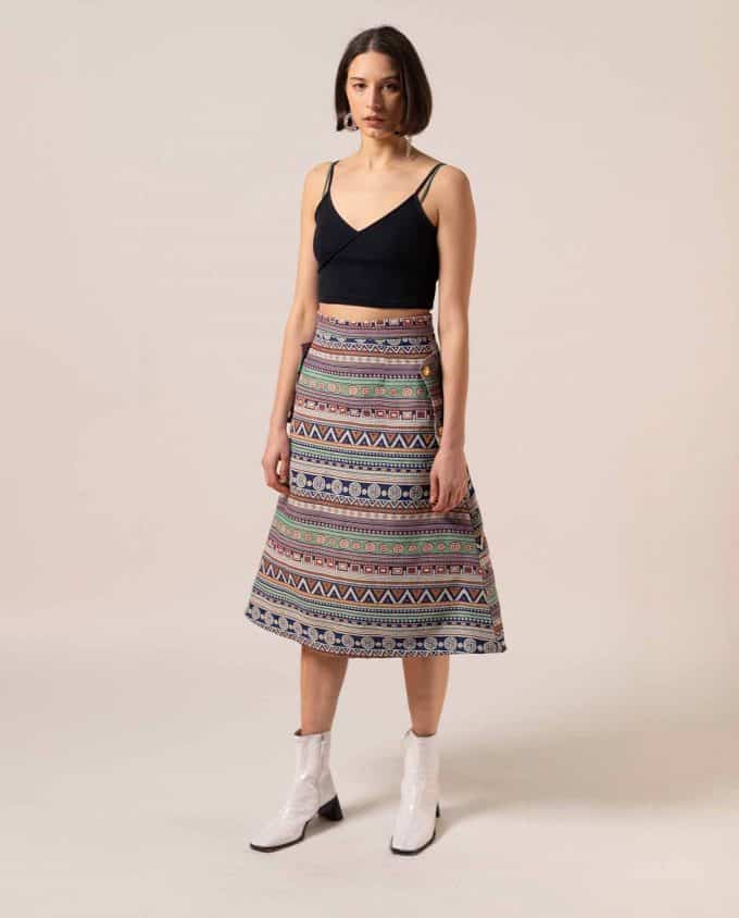 Midi Ethnic Skirt Relax Baby Be Cool