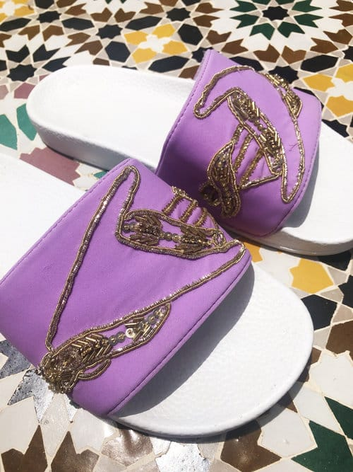 Oceanus Swimwear Lilac Beach Shoes